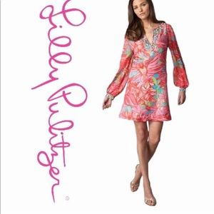 NWOT..Lilly Pulitzer Jubilee 100%silk floral dress